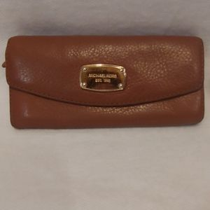 Michael Kors Brown Leather Envelope Wallet